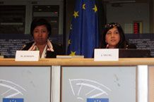 JY at EU with Dr. Mae Jemison for 100 YSS at Global Science Conference